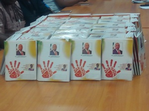 The branded exercise books to be distributed