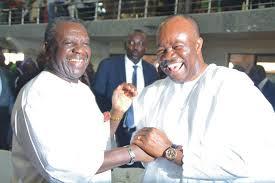 Obong Victor Attah with Senator Godswill Akpabio